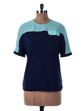 Short Sleeve Color Block Top - Miss Chase