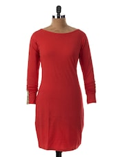 Boat Neck Full Sleeve Dress - Miss Chase