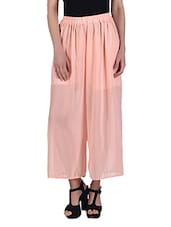 High Waist Wide Chiffon Harem Pants - By