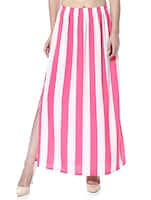 pink & cream crepe skirts -  online shopping for Skirts
