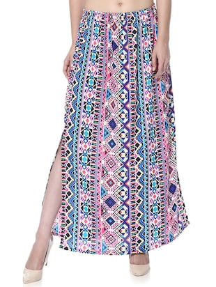 multi colored crepe skirts