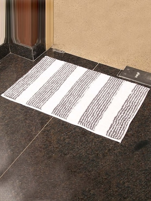 PO Box grey  Cotton bath mat