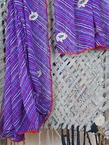 Embroidered Lehariya Georgette Saree - Lazza