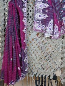 Heavy Embroidery Border Lehariya Georgette Saree - Lazza
