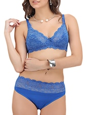 blue lace regular bra -  online shopping for bra