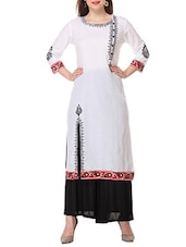 white cotton long  kurta -  online shopping for kurtas
