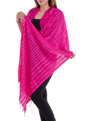 pink staple cotton dupatta