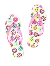 Quirky Printed Rubber Flip-Flops - Flipside - 1038501
