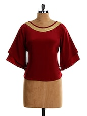 Sequenced BELL SLEEVE TOP - VEA KUPIA