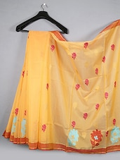 Woven Floral Cotton Silk Saree - WEAVING ROOTS