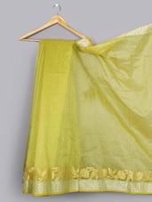 Zari Woven Cotton Silk Saree - WEAVING ROOTS