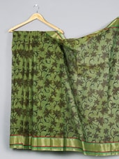 Printed Cotton Silk Saree - WEAVING ROOTS