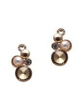 Crystal , Stone & Pearl Embellished Earrings - Jewelz