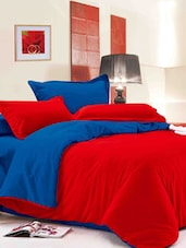 Dexim 4 Piece Solid Color Bedding Set with Reversible Duvet Cover -  online shopping for bed sheet sets