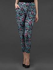 Multi Floral Printed Polyester Harem Pant - Dashy Club