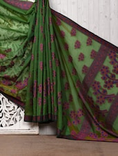 Green Brasso Cotton Silk Saree - Bunkar