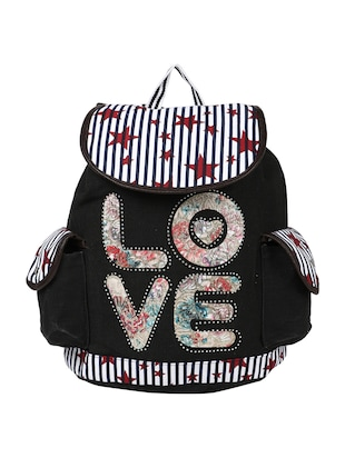 multicolor leatherette backpack