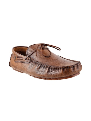 Tan Leather slip on moccasin -  online shopping for Moccasins