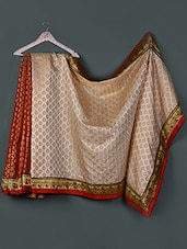 Half & Half Zari Woven Silk Saree - Awesome