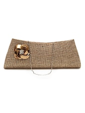 Brown Jute Regular Clutch - By