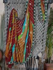 Embroidered Border Multi Colour Lehariya Georgette Saree - Rasiya