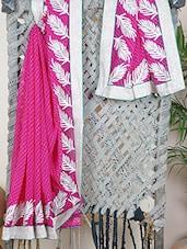 Georgette Zari Embroidered Saree - Bandhni