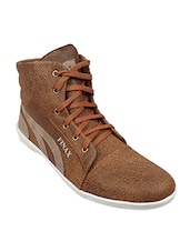 brown and grey leatherette sneakers -  online shopping for Sneakers