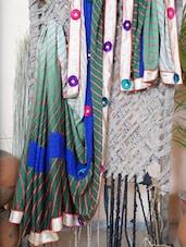 Floral Patch Border Synthetic Leheriya Saree - Bandhni