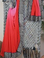 Zari Heavy Embroidered Border Synthetic Ombre Saree - Aari Taari