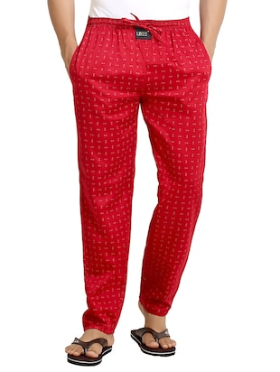 red cotton pyjamas
