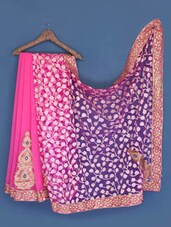 Pink Chiffon And Net Brasso Saree - Suchi Fashion