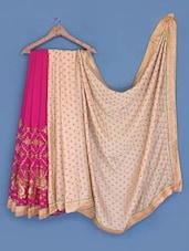 Pink Satin Chiffon Saree - Suchi Fashion