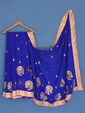 Royal Blue Georgette Saree - Suchi Fashion - 1041977