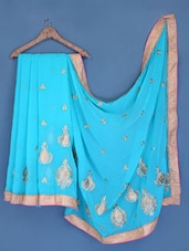 Sky Blue Chiffon Saree - Suchi Fashion
