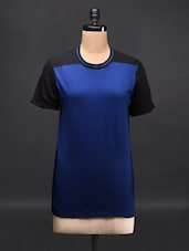 Short Sleeve Colour Block Top - Femella