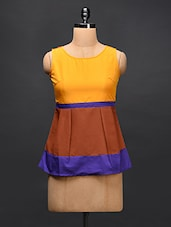Color Block Sleeveless Poly-crepe Top - STREET 9