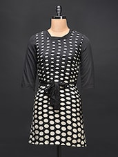 Black Polka Dot Shift Dress - STREET 9