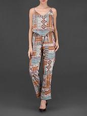 Multicolor Printed Polycrepe Jumpsuit - STREET 9