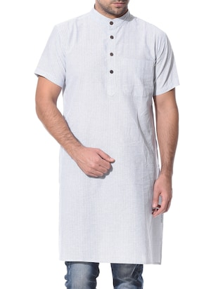 gray cotton kurta