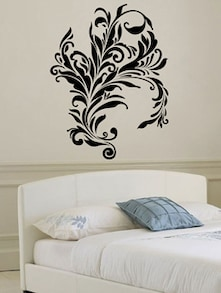 Buy Filigree Floral Pattern Wall Sticker by Decor Kafe