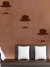 Hat And Moustache Wall Sticker - Decor Kafe