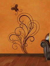Filigree With Butterfly Wall Sticker - Decor Kafe