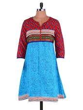Multi Color Printed Kurta - Infiara