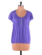 Short Sleeve Round Neck Top - Infiara