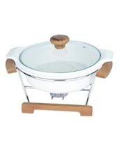 Porcelain Casserole  With Heating Stand - Seven Seas