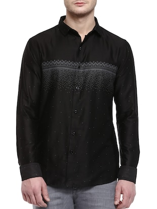 black colored, cotton casual shirt