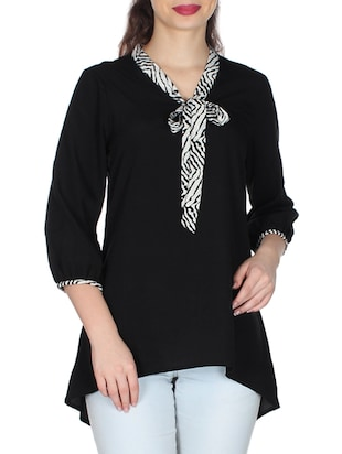 black georgette top