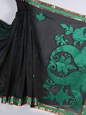 Kora Silk Green Banarasi Saree - Avishi Saree