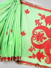 Banarasi Chanderi Red Color Saree - Avishi Saree