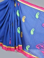 Banarasi Chanderi Royal Blue  Saree - Avishi Saree